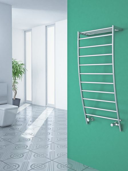 Picture of POLIFEMO 500mm Wide 1200mm High Chrome Designer Towel Radiator