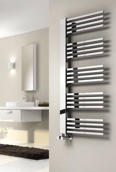 Picture of DEXI 530mm Wide 1140mm High Chrome Designer Radiator