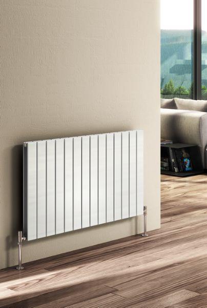 Picture of FLAT 810mm Wide 600mm High Designer Bathroom Radiator - Anthracite Single