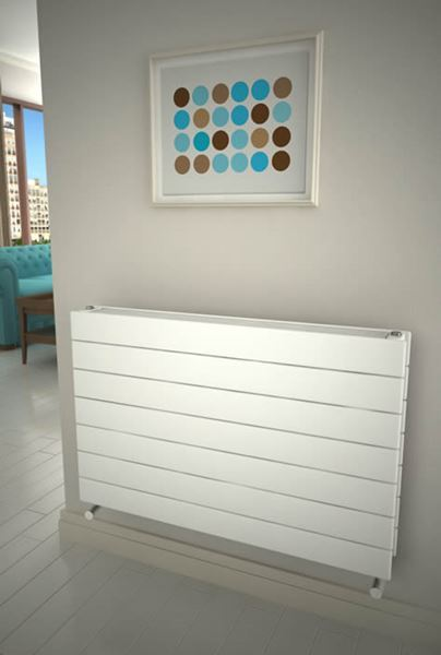 Picture of FLATCO 1200mm Wide 588mm High Designer Bathroom Radiator - White Type 21