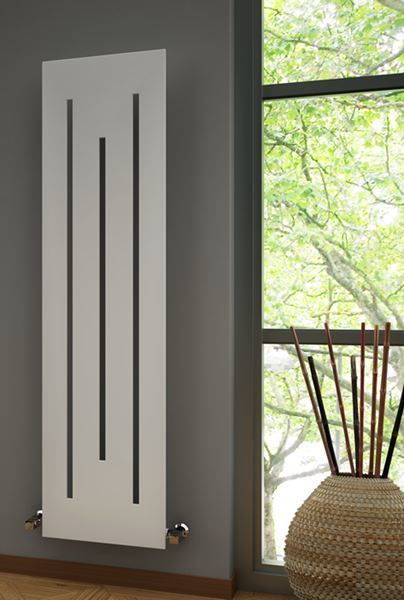 Picture of LINE 490mm Wide 1800mm High WHITE Designer Radiator