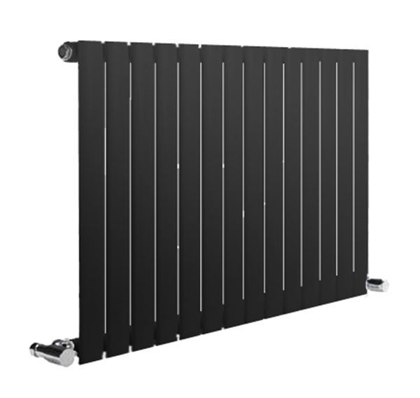 Picture of NEVA 413mm Wide 550mm High Black Radiator - Single