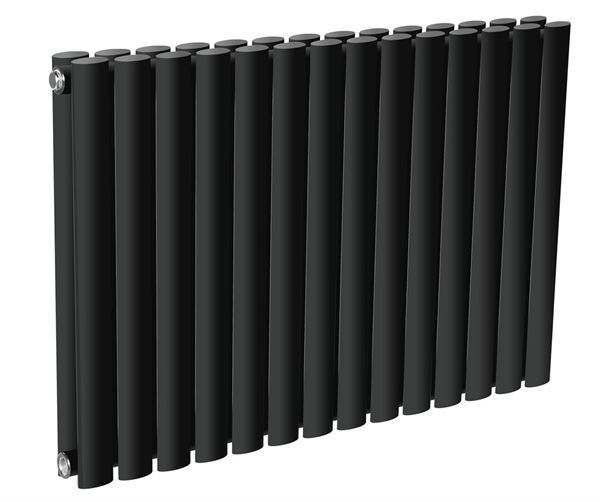 Picture of NEVA 590mm Wide 550mm High Black Radiator - Double