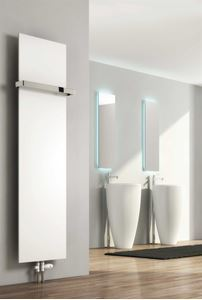 Picture of SLIMLINE 500mm Wide 1470mm High Radiator With Hanging Rail - White