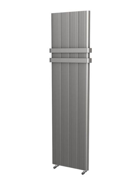 Picture of CARLITA 466mm Wide 1800mm High Flat Panel Aluminium Radiator - Silver