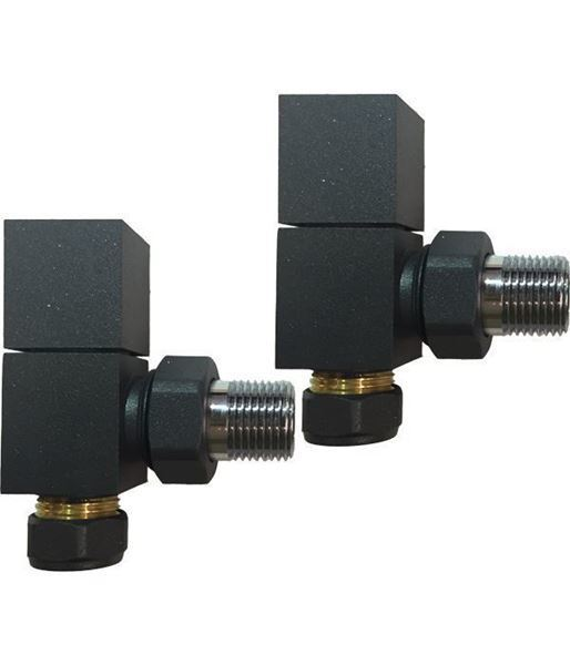 Square Anthracite ANGLED Valves