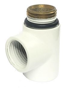 Tee Pipe - Dual Fuel Adaptor in White