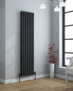 VERTICA 1500x420mm Anthracite Double Panel Modern Designer Radiator