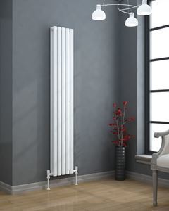 VERTICA Designer Radiator White Double 1800mm H x 300mm W
