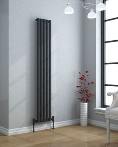 VERTICA 300mm Wide 1800mm High Slim Anthracite Designer Radiator