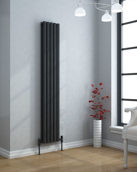 VERTICA 1800x300mm Anthracite Double Vertical Designer Radiator