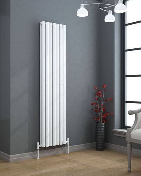 5000+ BTU Designer Radiator by Adige 1800x420mm White Double