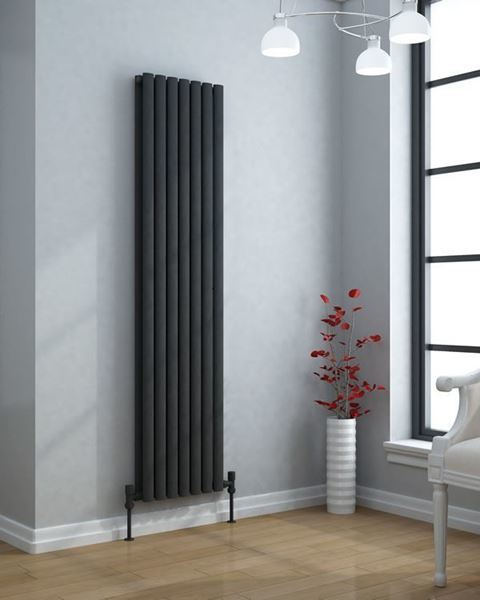 VERTICA 1800x420mm Contemporary Designer Radiator Anthracite Double