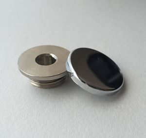 Concealed Blanking Plug & Cover Cap - Chrome