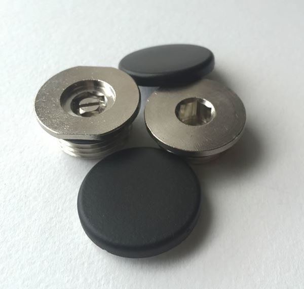 Concealed Blanking Plug & Bleed Valve with Cover Caps - Anthracite