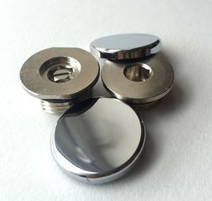 Concealed Blanking Plug & Bleed Valve with Cover Caps - Chrome