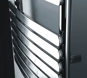 Picture of KOCA Chrome Curved Designer Towel Radiator - 500mm Wide 1200mm High