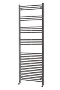 600mm Wide 1800mm High Chrome Heated Towel Rail