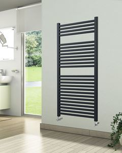 600mm Wide 1230mm High Anthracite Towel Radiator