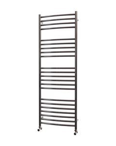 500mm Wide 1400mm High CURVED Stainless Steel Towel Radiator