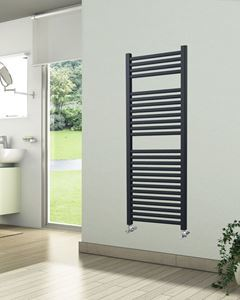 500mm Wide 1230mm High Anthracite Towel Radiator
