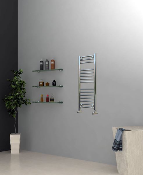 Picture of Chrome Towel Radiator 300mm Wide 800mm High