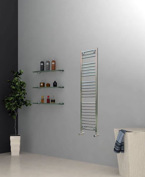 Picture of Chrome Towel Radiator 300mm Wide 1200mm High