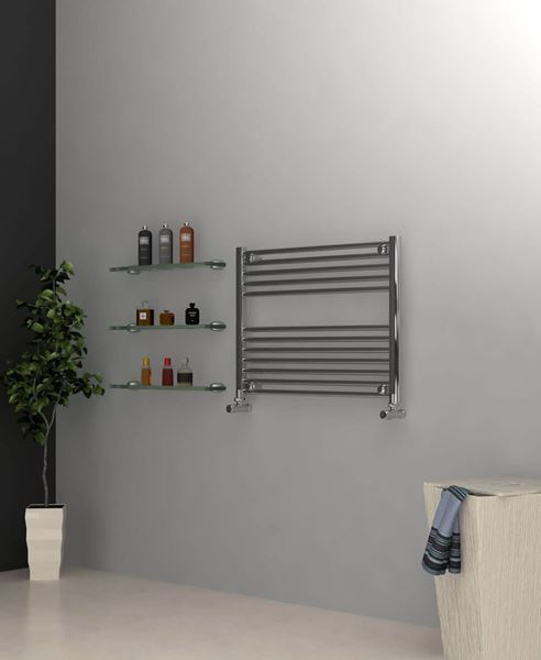 Picture of Chrome Towel Radiator 800mm Wide 600mm High
