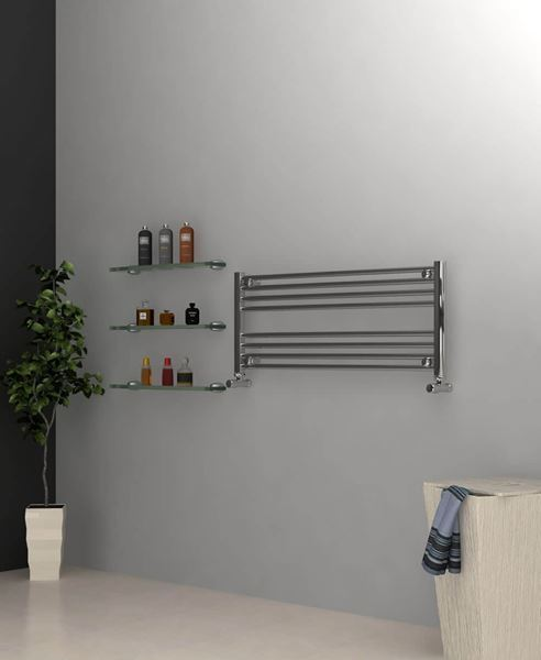 Picture of Chrome Towel Radiator 1000mm Wide 400mm High