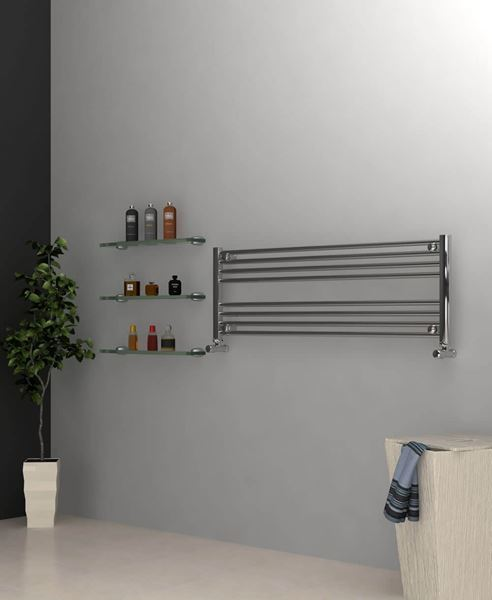 Picture of Chrome Towel Radiator 1200mm Wide 400mm High