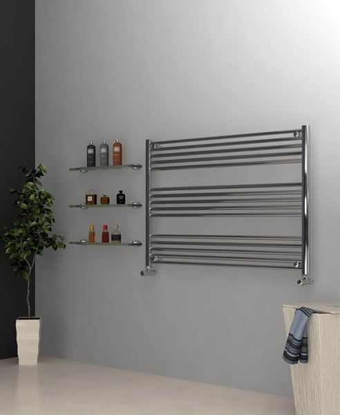 Picture of Chrome Towel Radiator 1200mm Wide 800mm High