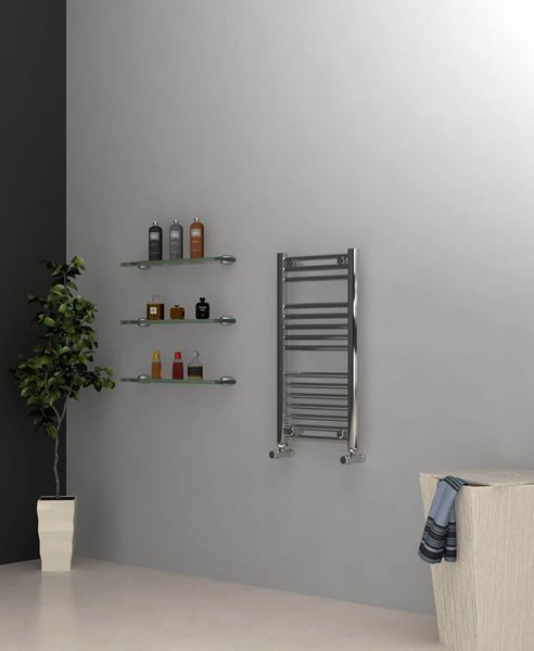 Picture of Chrome Towel Radiator 400mm Wide 750mm High