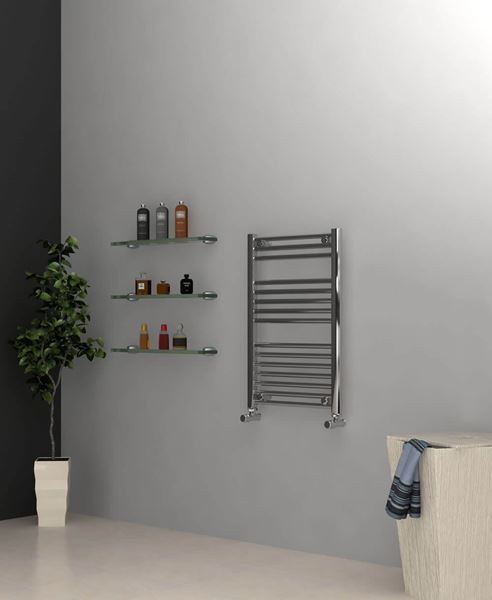 Picture of Chrome Towel Radiator 500mm Wide 750mm High