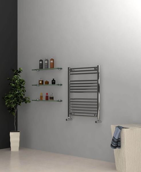 Picture of Chrome Towel Radiator 600mm Wide 750mm High