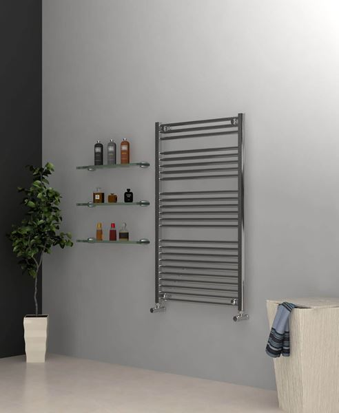Picture of Chrome Towel Radiator 700mm Wide 1150mm High