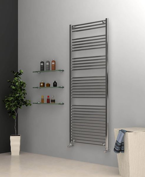 Picture of Chrome Towel Radiator 700mm Wide 1750mm High