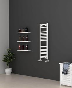 Picture of White Bathroom Towel Rail 300mm Wide 1000mm High
