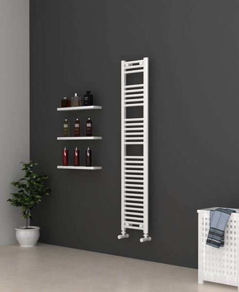 Picture of White Bathroom Towel Rail  300mm Wide 1500mm High