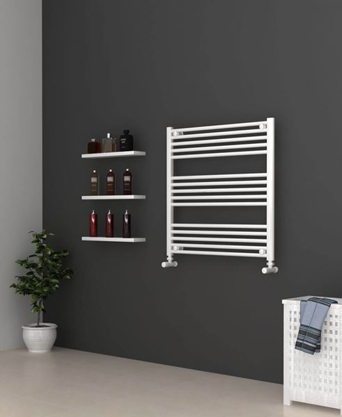 Picture of White Bathroom Towel Rail  800mm Wide 800mm High
