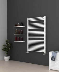 Picture of White Bathroom Towel Rail 800mm Wide 1200mm High