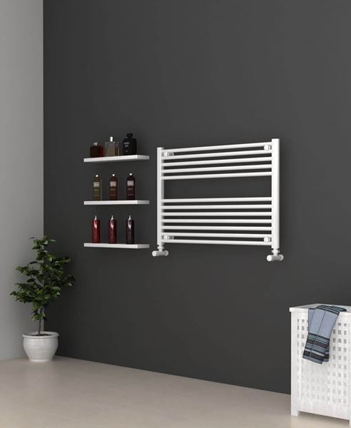Picture of White Bathroom Towel Rail  900mm Wide 600mm High