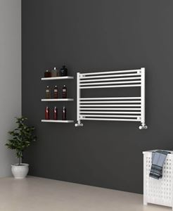 Picture of White Bathroom Towel Rail  1000mm Wide 600mm High