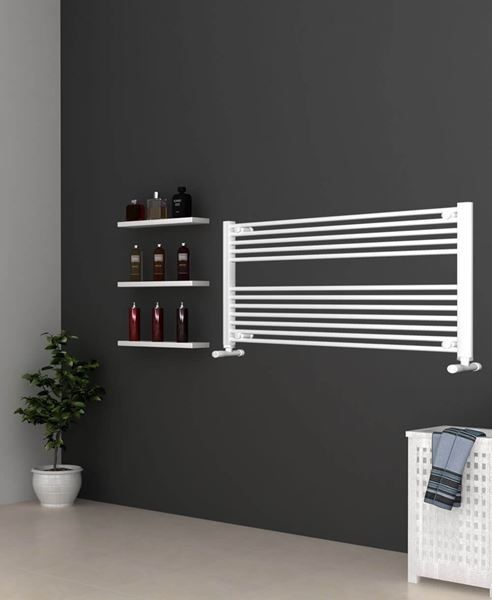Picture of White Bathroom Towel Rail  1200mm Wide 600mm High