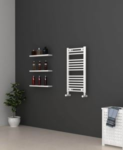 Picture of White Bathroom Towel Rail 400mm Wide 750mm High