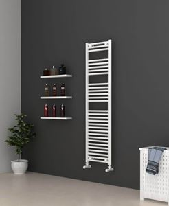 Picture of White Bathroom Towel Rail  400mm Wide 1500mm High