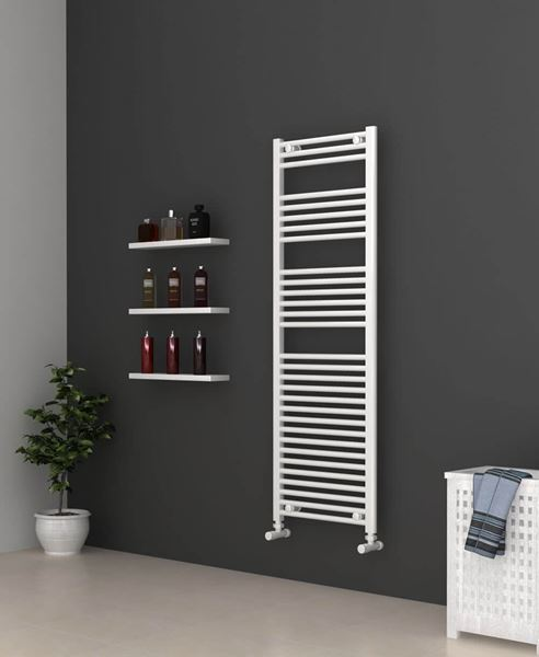 Picture of White Bathroom Towel Rail  500mm Wide 1500mm High