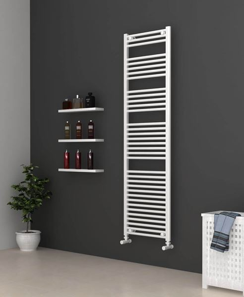 Picture of White Bathroom Towel Rail  500mm Wide 1750mm High