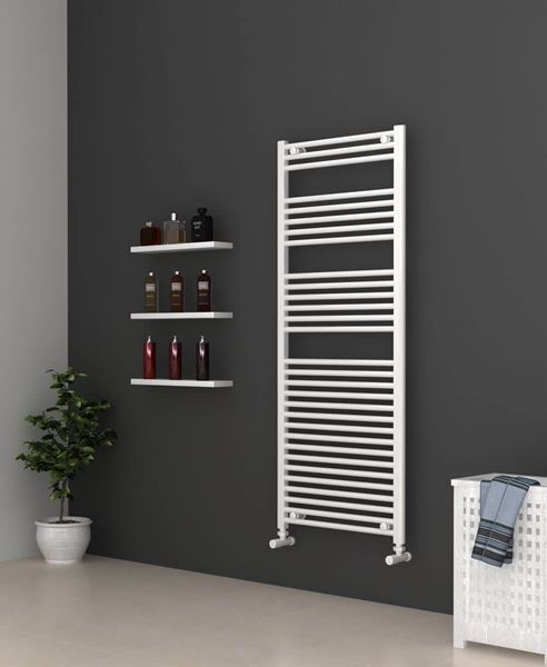 Picture of White Bathroom Towel Rail  600mm Wide 1500mm High