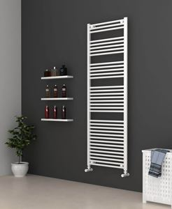 Picture of White Bathroom Towel Rail  600mm Wide 1750mm High