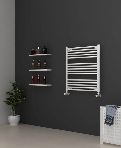Picture of White Bathroom Towel Rail 700mm Wide 750mm High